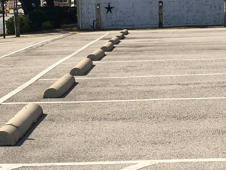 Wheel stops in your parking lot Pearland, Texas