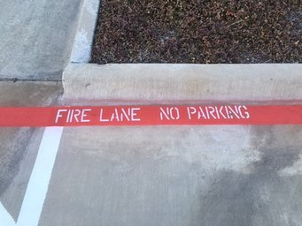 City Code Compliance Fire Lane Striping