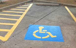 Handicap Stall and Stenciling Services Houston